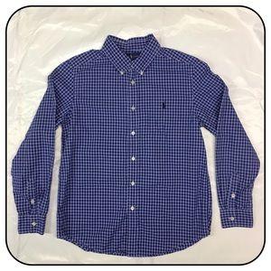 Ralph Lauren Boys Large Button Down Dress Shirt